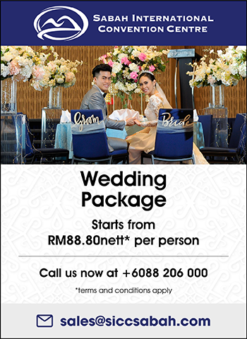 Wedding Package Starts from RM88.80nett* per person