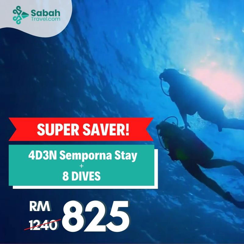 4D3N Semporna Stay with 8 Dives