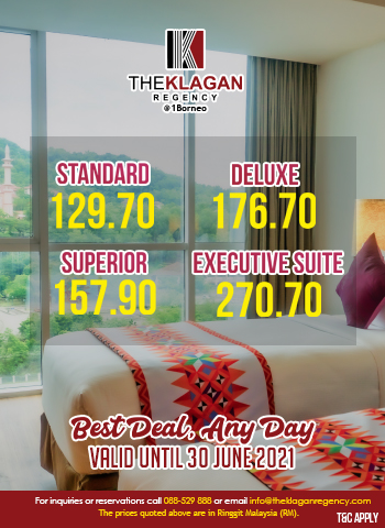 Best Deal, Any Day at The Klagan Regency