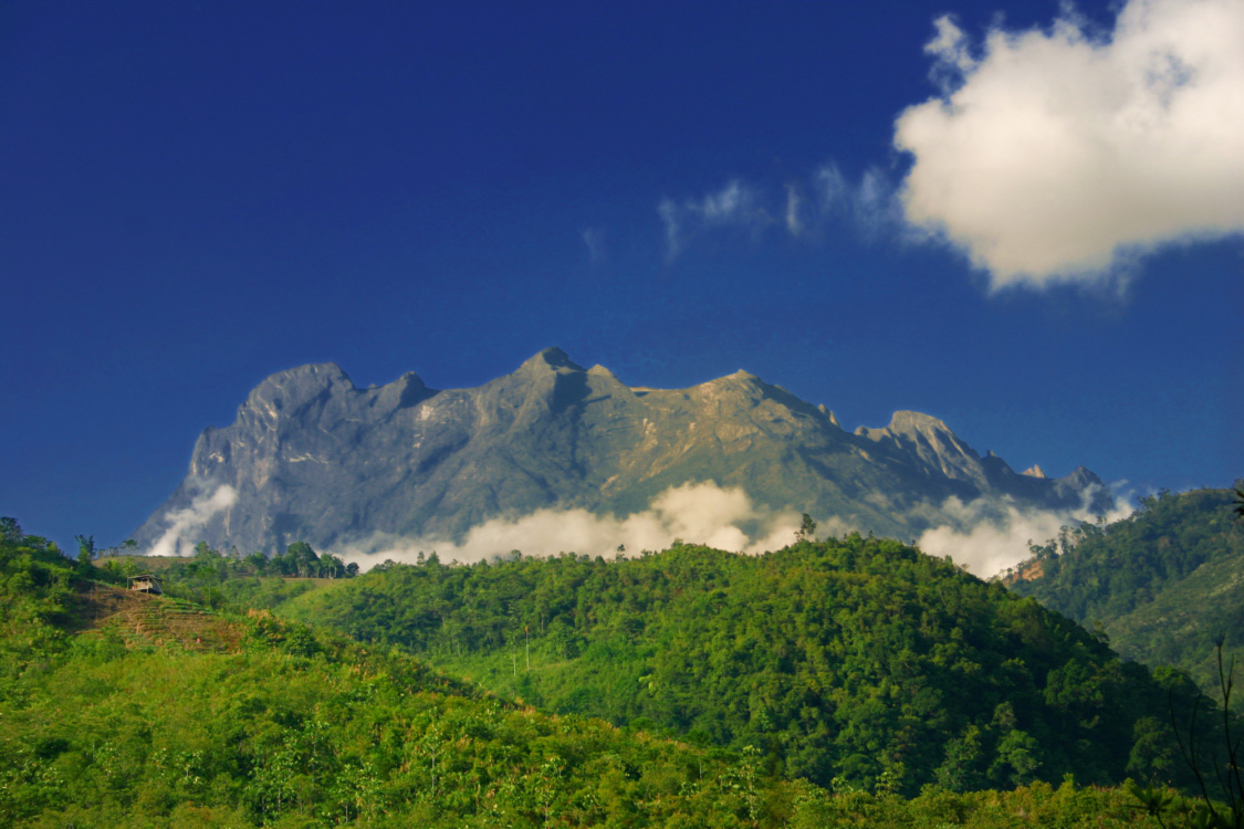 Majestic mountain view of Mount Kinabalu