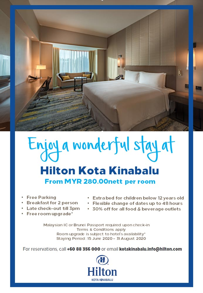 Enjoy a wonderful stay at Hilton Kota Kinabalu