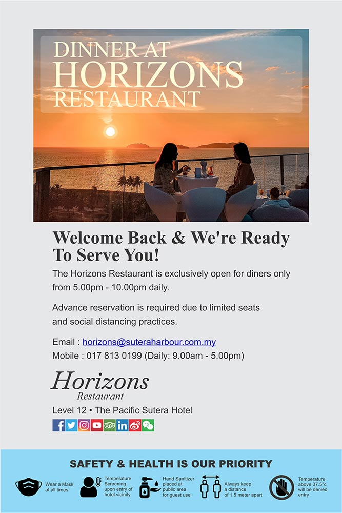 Dinner At Horizons Restaurant