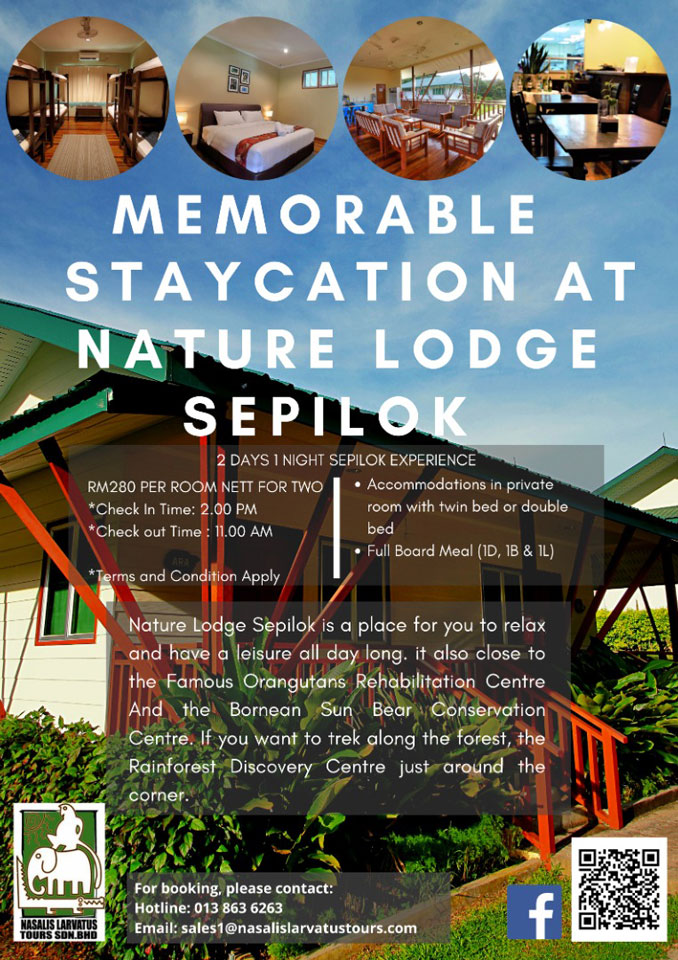 Memorable Staycation At Nature Lodge Sepilok
