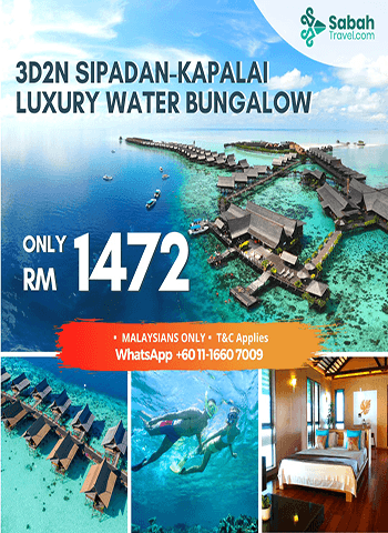 3D2N Sipadan-Kapalai Luxury Water Bungalow