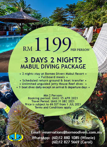 3 Days 2 Nights Mabul Diving Package