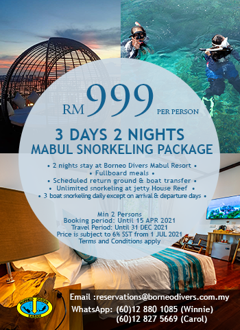 3 Days 2 Nights Mabul Snorkeling Package