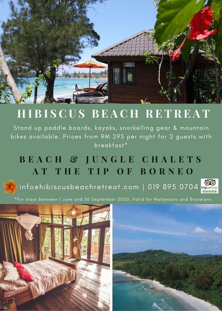 Beach and Jungle chalets at the Tip of Borneo