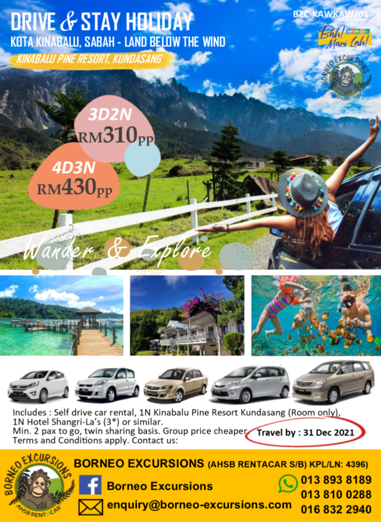 4D3N Drive & Stay Holiday- Kundasang