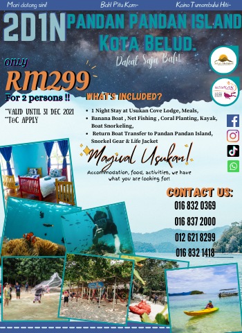 2D1N Usukan Cove Lodge with Pandan Pandan Tour