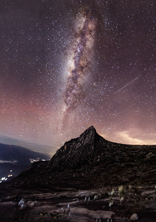Starry Night from Mt Kinabalu