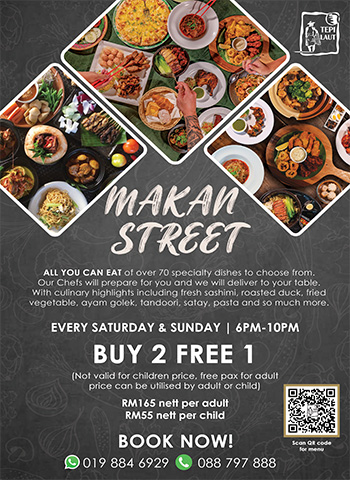 Buy 2 Free 1 Makan Street All You Can Eat