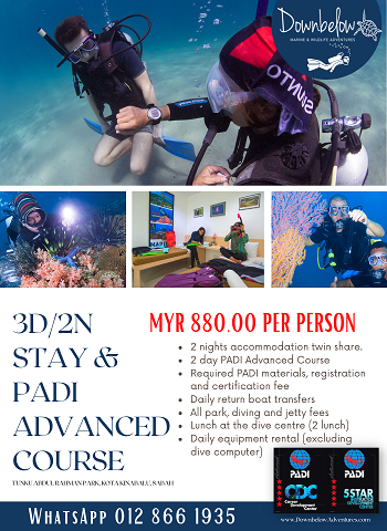 3D/2N Stay & PADI Advanced Course
