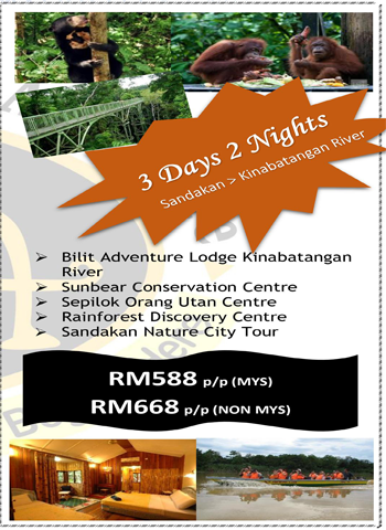 3 Days 2 Nights Sandakan > Kinabatangan River